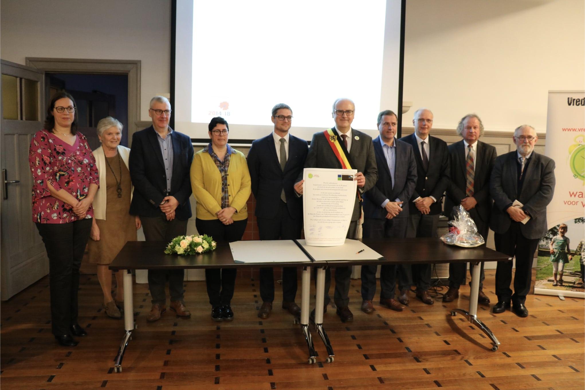 18 Westhoekburgemeesters Willen België Kernwapenvrij